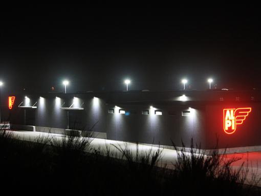 Reference ALPI, Herning: Udendørs LED-belysning