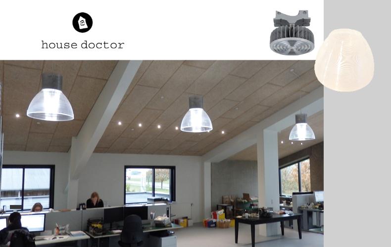 House doctors kontor med LED belysning