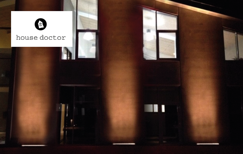 House Doctors bygning med LED belysning på facaden